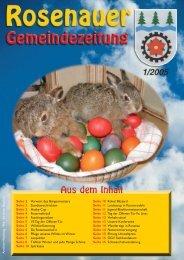 01. Ausgabe 2005 (0 bytes) - Rosenau am Hengstpaß