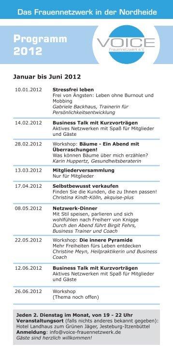 Programm 2012 - Voice Frauennetzwerk