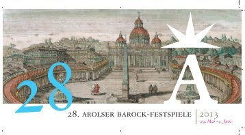 Flyer der 28. Arolser Barock-Festspiele 2013 - Bad Arolsen
