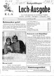 Faschingszeitung aus dem Jahre 1965 - Wetzstoana