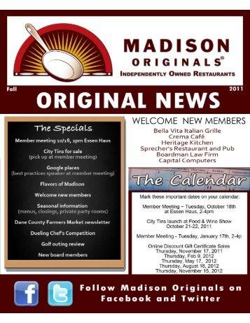 ORIGINAL NEWS - Madison Originals