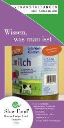 2011 Sommer.indd - Slow Food Deutschland eV