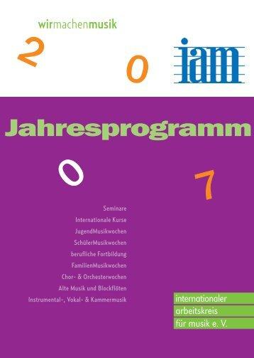 Jahresprogramm - iam