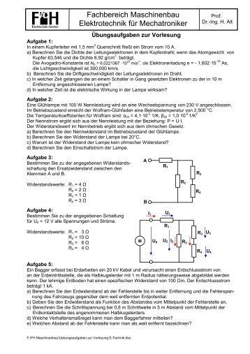 Fachbereich Maschinenbau Elektrotechnik für Mechatroniker ...
