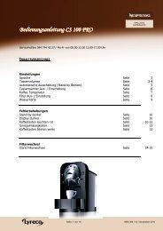 NBS 356 V2 Bedienungsanleitung CS 100 - lyreco