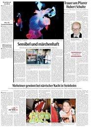 Sensibel und märchenhatf (u. a. Berichte) - Stadt Steinheim