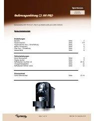 NBS 356 V2 Bedienungsanleitung CS 100 PRO neu - lyreco