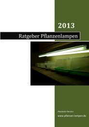 Ratgeber Pflanzenlampen 2013 - Pflanzen-Lampen.de