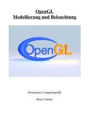 OpenGL Modellierung und Beleuchtung