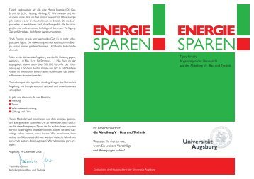 energie - Universität Augsburg