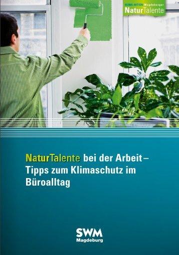 """Broschüre """"Naturtalente bei der Arbeit"""""""
