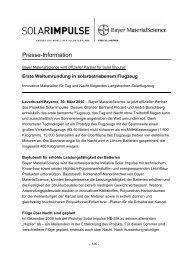 Erste Weltumrundung in solarbetriebenem Flugzeug - Bayer