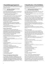 I Classification of the Exhibition I Ausstellungsprogramm - BioEnergy ...