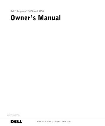 dell inspiron 1100 5100 and 5150 service manual elhvb com rh yumpu com dell inspiron owners manual dell inspiron owners manual
