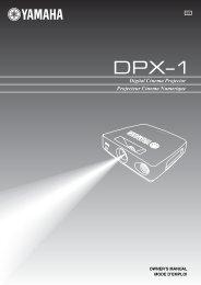DPX–1 - Yamaha