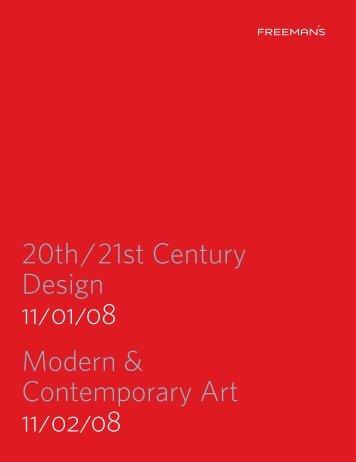20th/21st Century Design 11/01/08 Modern - Freeman's Auctioneers