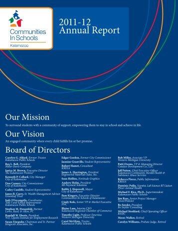 2011-12 Annual Report - Communities In Schools of Kalamazoo