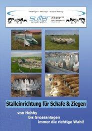 Schafstalleinrichtung - Sutter Landtechnik GmbH