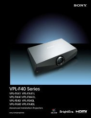 VPL-F40 Series - Sony