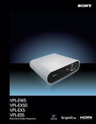 VPL-EW5 VPL-EX50 VPL-EX5 VPL-ES5 - Sony