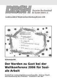 Landesrundbrief Niedersachsen/Hamburg/Bremen 4/06 Schwerpunkt