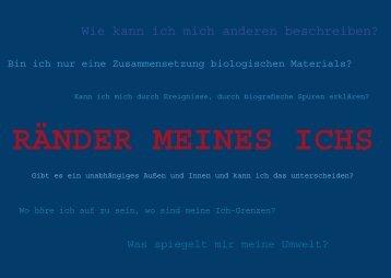 RÄNDER MEINES ICHS - Jacob-Grimm-Schule Kassel