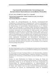 Experimentelle und simulatorische Untersuchungen zum ...