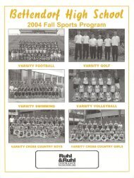 The Complete History of Bettendorf Football: 1951 - Present