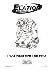 Platinum Spot 5R Pro User Manual (pdf) - Elation Professional