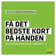 LÆR EN McDONALD'S RESTAURANT AT KENDE ... - McDonalds