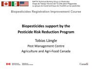 Biopesticides support by the Pesticide Risk Reduction Program ...