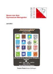 Ausgabe 3/2012 (Juli) - Gymnasium Weingarten
