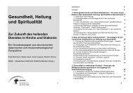 Gesundheit, Heilung und Spiritualität - Deutsches Institut für ...