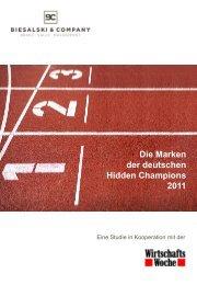 Die Marken der deutschen Hidden Champions 2011 - Biesalski ...
