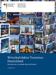 Studie Wirtschaftsfaktor Tourismus - IHK Dresden