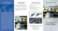 Automation of Transfer Presses - Bilsing Automation
