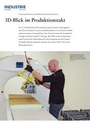 3D-Blick im Produktionstakt - Volume Graphics