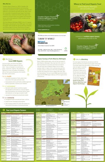 Local Organic Farm Directory - Canadian Organic Growers