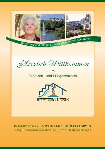 Hausprospekt Blomberg-Klinik - Gemeinde Bad Laer