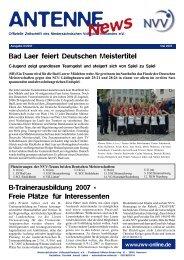 Bad Laer feiert Deutschen Meistertitel B-Trainerausbildung ... - NVV