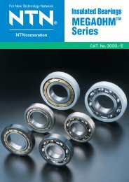 Insulated Bearings Megaohm Series - NTN