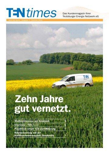 TENtimes Ausgabe 02/Sommer 2010 - PDF Download