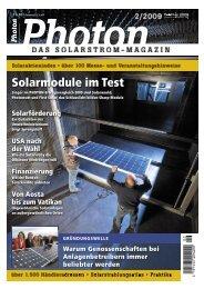 Solarmodule im Test - Genossenschaftsverband Weser-Ems eV ...