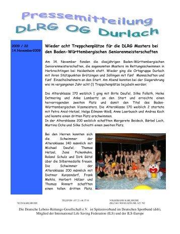 2009 22 - DLRG Ortsgruppe Durlach