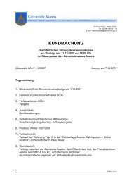 Gemeinderatssitzung am 17.12.2007 - Gemeinde Axams