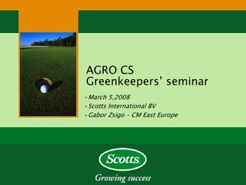 AGRO CS Greenkeepers' seminar
