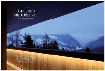 lärche, licht und klare linien - Ralph Germann