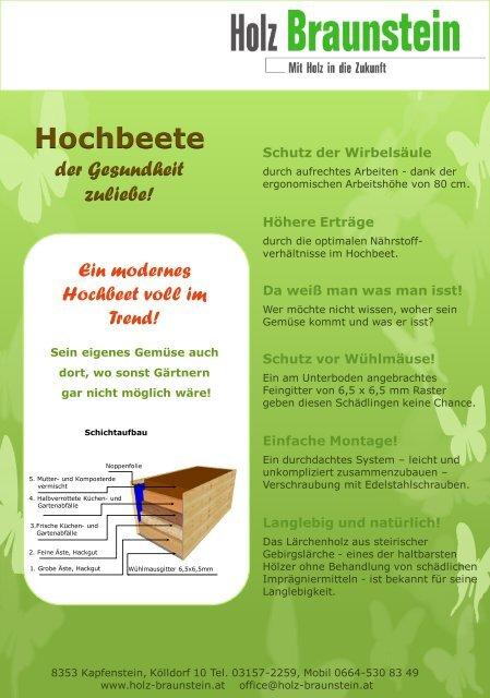 Hochbeete Holz Braunstein