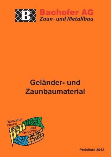 Katalog - Bachofer AG