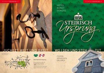 Der neue Hotelfolder - Steirisch Ursprung